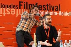 Director Miha Knific front at the Internationales Filmfestival Mannheim-Heidelberg 2017. Deutschland, 2017-11-18. Der Regisseur Miha Knific vorne talkt über Stock Photo