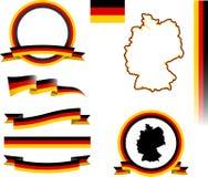 Deutschland-Fahnensatz Stockfoto