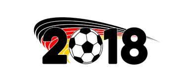 Deutschland-Flaggenfahnenfußball 2018 Lizenzfreie Stockfotografie