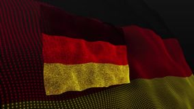 Deutschland-Flaggenschlagflattern belebt vektor abbildung