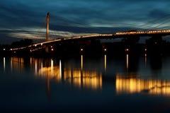 Deutschland- - Frankreich-Grenzbrücke Stockfoto