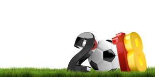Deutschland-Fußball-Fußballball 2018 3d Lizenzfreie Stockbilder