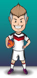 Deutschland-Fußball-Junge Lizenzfreie Stockbilder