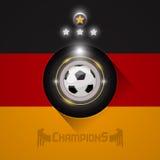 Deutschland-Fußball verficht Flaggensymbol Lizenzfreies Stockfoto