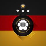 Deutschland-Fußballflagge Stockfotografie