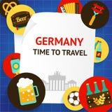 Deutschland-Hintergrundschablone Lizenzfreies Stockfoto