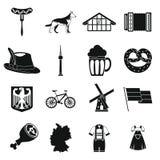 Deutschland-Ikonen eingestellt, einfache Art lizenzfreie abbildung