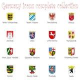Deutschland-Ikonenansammlung gegen Weiß Stockbild