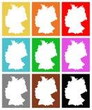 Deutschland-Karte - Land in zentral-West-Europa lizenzfreie abbildung