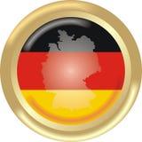 Deutschland-Karte und Markierungsfahne Lizenzfreie Stockbilder