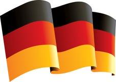 Deutschland-Markierungsfahne Stockbild