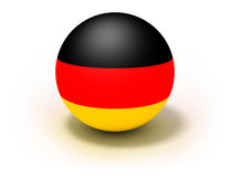 Deutschland-Markierungsfahne auf Kugel Lizenzfreie Stockbilder
