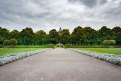 deutschland Park an einem regnerischen Tag Stockbilder