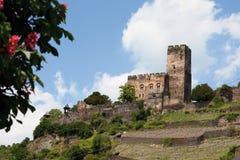 Deutschland, Rheinland, Ansicht von Burg gutenfels zieht sich zurück lizenzfreies stockfoto