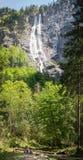 Deutschland-` s höchster Wasserfall in schönem berchtesgaden Land Stockfotografie