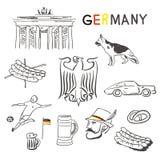 Deutschland-Symbole stock abbildung