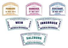 Deutschland u. Österreich stock abbildung