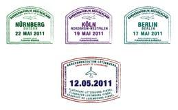 Deutschland u. Luxemburg stock abbildung