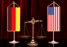 Deutschland und amerikanische Gerechtigkeit Stockfoto
