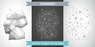 Deutschland-Vektorkarten Lizenzfreie Stockbilder