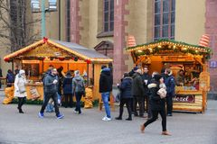 Deutschland-Weihnachtsmarkt Stockbild