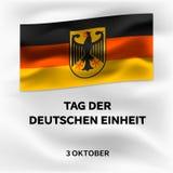 Deutschoktober-Einheitstageskonzepthintergrund, isometrische Art lizenzfreie abbildung