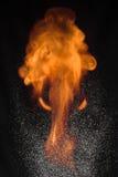 Deux éléments le feu et l'eau Image libre de droits