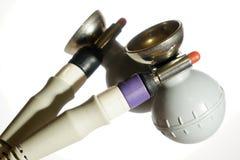 Deux électrodes de ballon d'ECG avec le câble patient Image stock