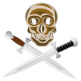 Deux épée et crâne Photos libres de droits