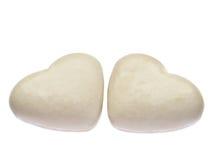 Deux épice-durcit d'isolement sur le blanc. Image stock