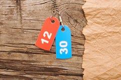 Deux étiquettes colorées Photos stock