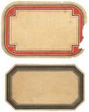 Deux étiquettes de cru Image libre de droits