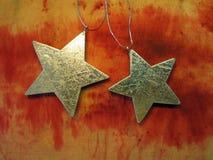 Deux étoiles argentées Images libres de droits