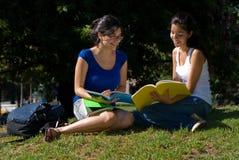 Deux étudiants Photographie stock libre de droits