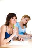 Deux étudiants féminins Photos libres de droits