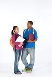 Deux étudiants - verticale Photographie stock