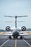 Deux aéronefs Image libre de droits