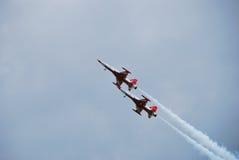 Deux aéronefs très rapidement Photographie stock