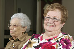 Deux aînés actifs image libre de droits