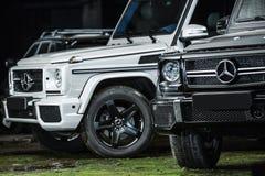 Deux accord de Mercedes G55 AMG Image libre de droits