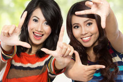Deux adolescentes Images libres de droits