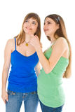 Deux adolescentes de rire Images libres de droits