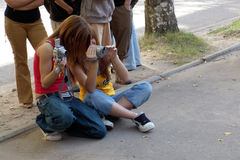 Deux adolescents Photo stock