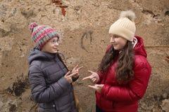 Deux adolescents photo libre de droits
