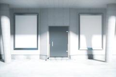 Deux affiches en blanc d'annonce illustration stock