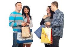 Deux ajouter aux sacs à provisions Images stock