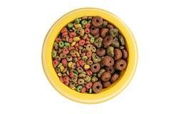 Deux aliments pour chiens. photographie stock