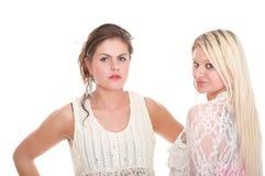 Deux amie attirants - blonde et brune Images stock