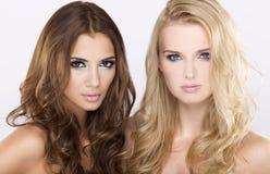 Deux amie - blonds et brunette Image libre de droits