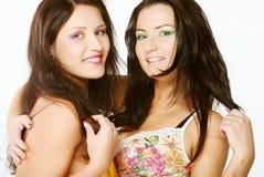 Deux amie souriant ensemble Images libres de droits